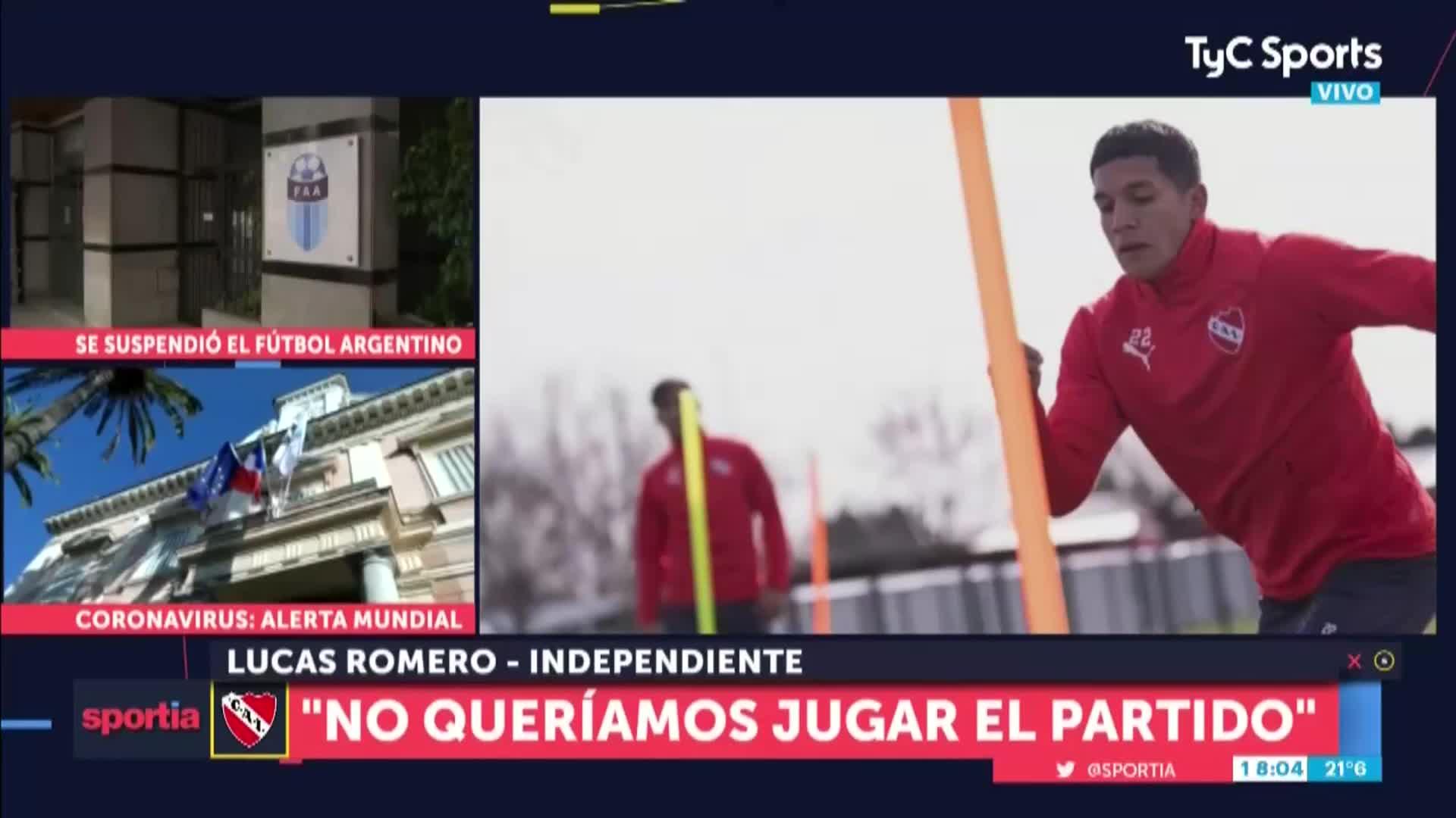 """Lucas Romero """"Gracias a Dios se suspendió el partido contra Villa Mitre""""  11-13605-92401-xu6zty1584482746848_1080P"""