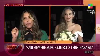 Video: Nazarena Vélez habla en el casamiento de Barbie
