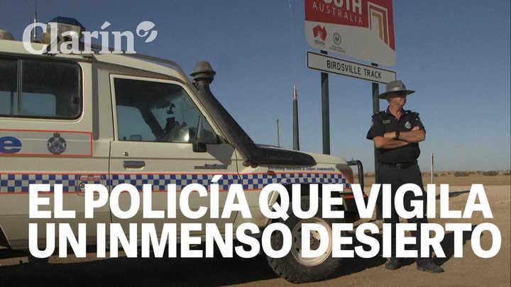 El policía que vigila un inmenso desierto de Australia