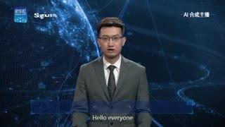 Un presentador de noticias generado con inteligencia artificial