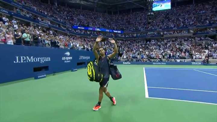 Nadal abandonó el partido y Del Potro pasó a la final