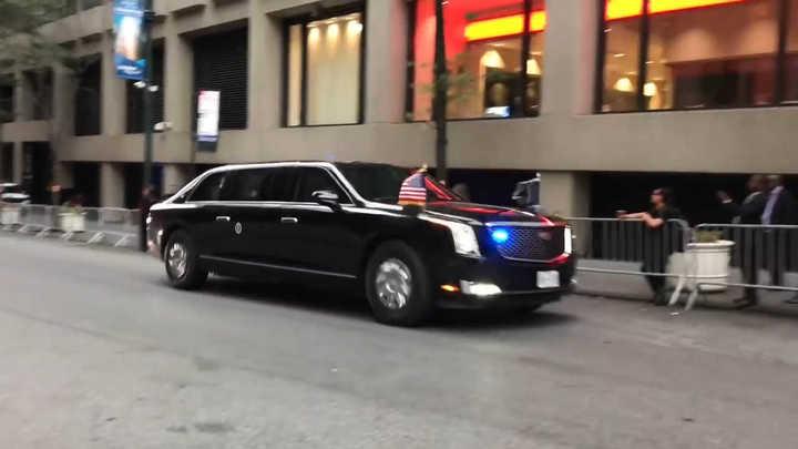 La nueva limusina de Donald Trump