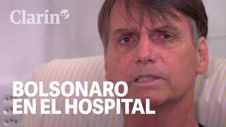 """""""Estoy vivo de milagro"""": Bolsonaro en su primera entrevista después de que lo apuñalaran"""