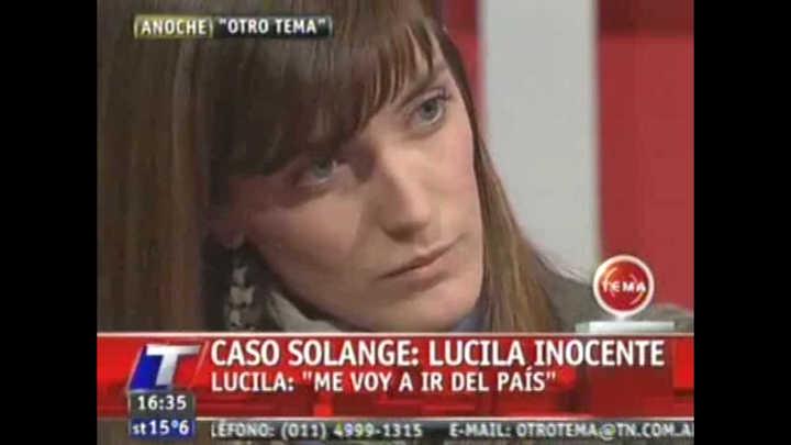 "Lucila Fend: ""Me voy del país"" (archivo 2015)"