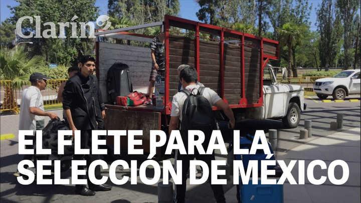 Polémica en Mendoza por la camioneta destartalada que trasladó la utilería de la Selección de México