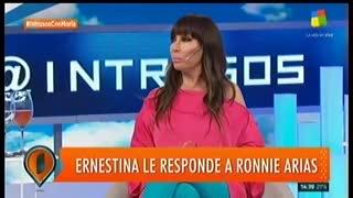 Ernestina Pais le respondió a Ronnie Arias