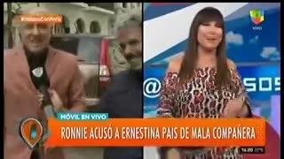 Ronnie Arias contó detalles de su mala relación con Ernestina Pais.