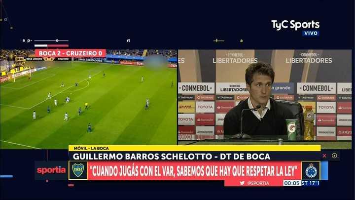 """Guillermo Barros Schelotto: """"Andrada está con mareos"""""""