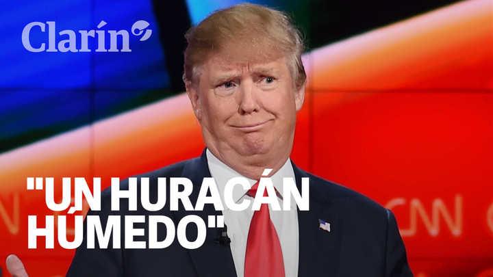 """""""Uno de los huracanes más húmedos"""": la redundancia de Trump que despertó bromas"""