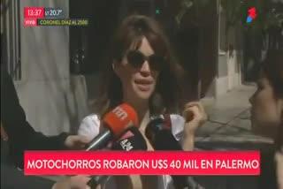 Habla una testigo del robo motochorro en Palermo