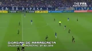 El uruguayo Giorgian De Arrascaeta se metió con una sensacional pirueta entre los candidatos al Puskas.