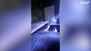 Detrás de escena: así se ve el comienzo del show de Axel en el Gran Rex desde el escenario.