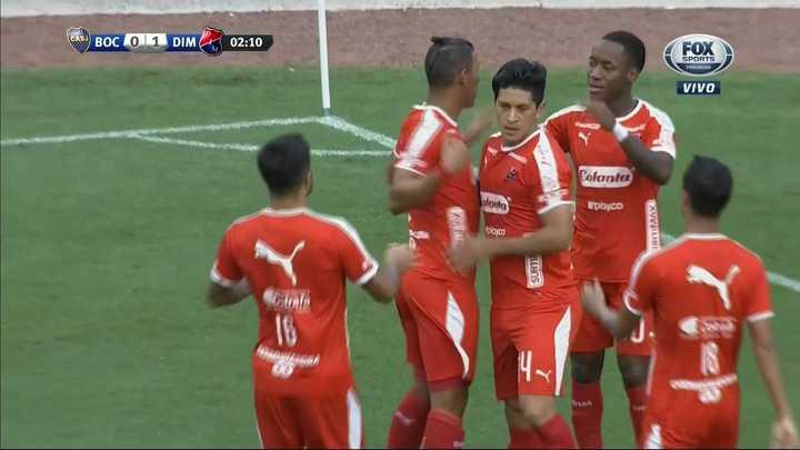 Boca 0 - Independiente de Medellín 1. Cano marcó el primero del DIM - Amistoso 2018