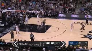 El triple de Manu Ginóbili contra Washington. (NBA)