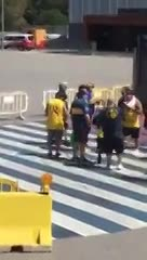 La barra brava de Boca fue a ver la Copa Joan Gamper en Barcelona