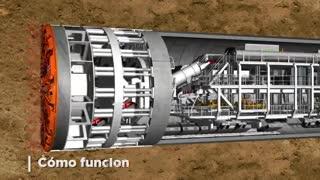 Tuneladora Obras Públicas Aysa