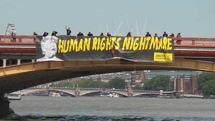 """""""Una Pesadilla para los derechos humanos"""", así recibieron a Trump en Londres"""