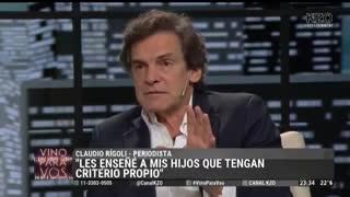 La emoción de Claudio Rígoli al aire
