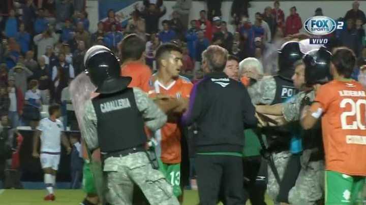 Hubo disturbios después del partido