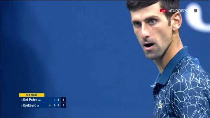 Djokovic se llevó el segundo set después del tie-break