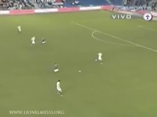 El primer gol de Messi en la Selección