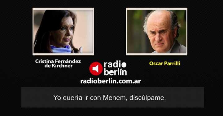 """El audio donde Cristina Kirchner le dice a Oscar Parrilli que le """"fascinaba Menem"""""""