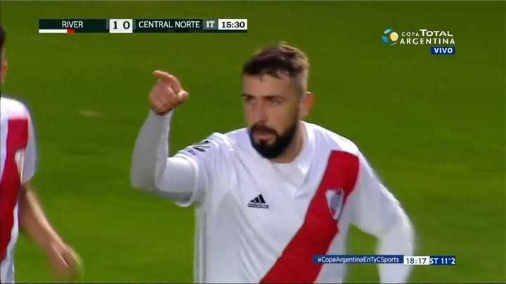 River Plate 2 - Central Norte 0. Pratto metió el segundo de River - Copa Argentina 2018