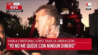 """La defensa de Cristóbal López: """"Una cosa es tener deudas y otra es evadir"""""""