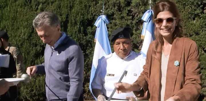 Macri compartió un locro en Olivos