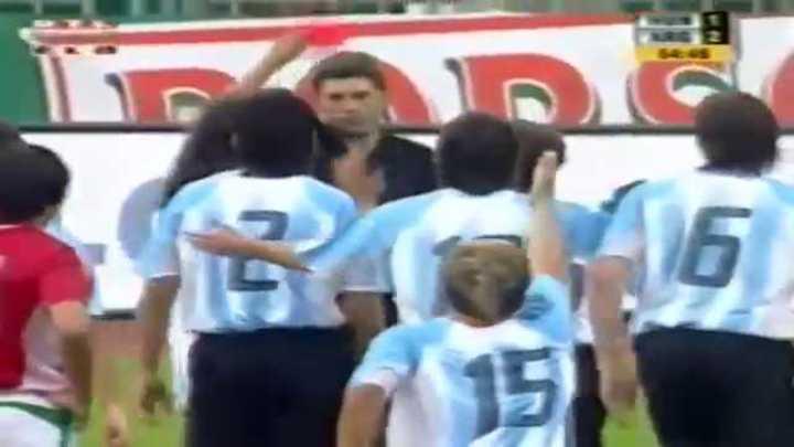 La única expulsión de Lionel Messi