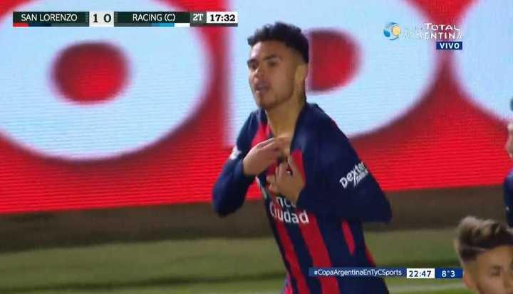 Díaz puso el 1 a 0 de San Lorenzo
