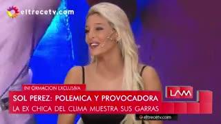 Sol Pérez se enteró al aire de LAM que su novio futbolista tenía novia