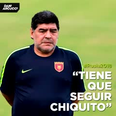 El audio de Maradona hablando de Armani y Romero.
