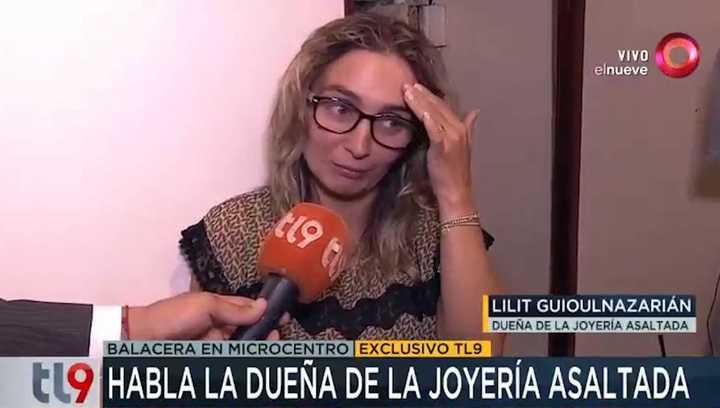 Habló Lilit, la dueña de la joyería que fue asaltada el martes a la tarde en el corazón de Microcentro