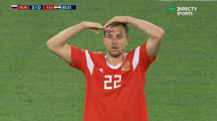 Rusia 3 - Egipto 0. Dzyuba anotó el tercero del anfitrión - Mundial Rusia 2018