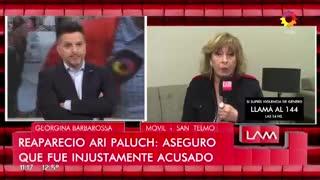 """Georgina Barbarossa habló de su nota con Ari Paluch. En """"Los Ángeles de la mañana"""" (El Trece)"""