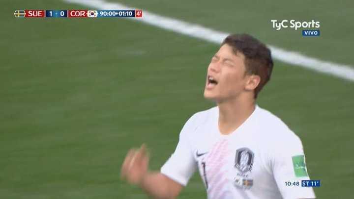 Los coreanos tuvieron el empate sobre el final