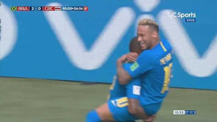 Neymar puso el segundo y cerró el marcador - Mundial 2018