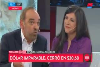 Fernando Iglesias se cruzó con Fernanda Vallejos