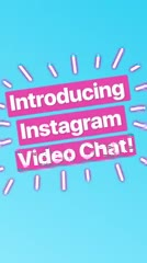 Instagram presenta videochat