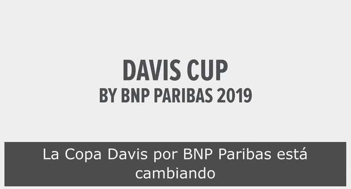 Así será el nuevo sistema de disputa de la Copa Davis