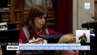 Cristina Kirchner explicó por qué cambió su posición sobre el aborto