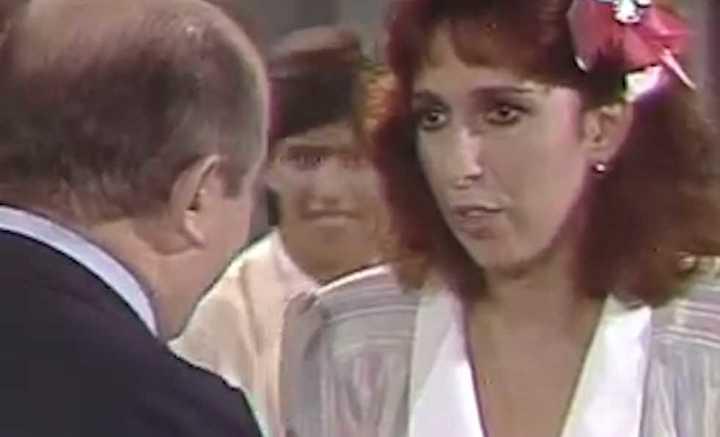 Georgina Barbarossa, 30 años atrás