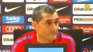 Valverde se tomó con humor las preguntas sobre Neymar.