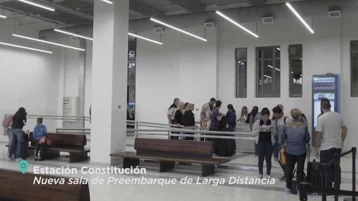 La nueva sala de espera de la estación Constitución