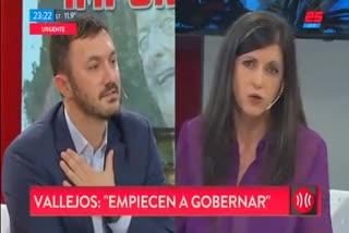 El cruce de Fernando Iglesias y Fernanda Vallejos