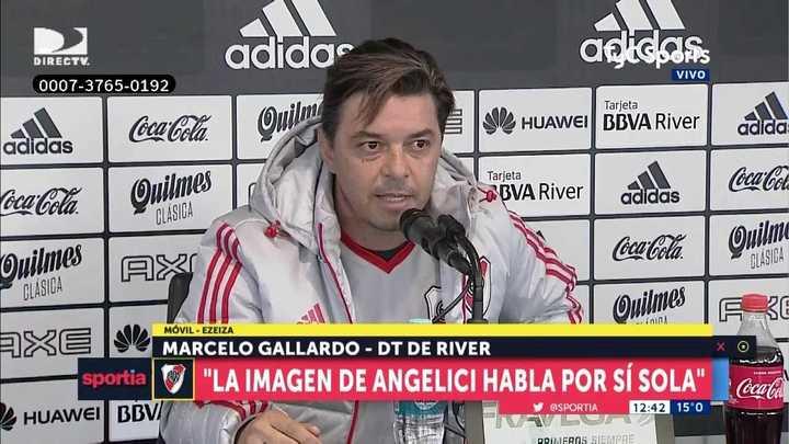"""Marcelo Gallardo explotó contra Angelici: """"Su imagen habla por sí sola, es el que nos representa en el mundo. Nada me sorprende"""""""