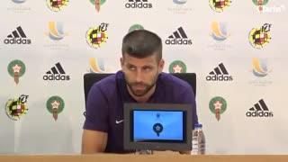 Piqué confirmó que ya no jugará en la selección de España.