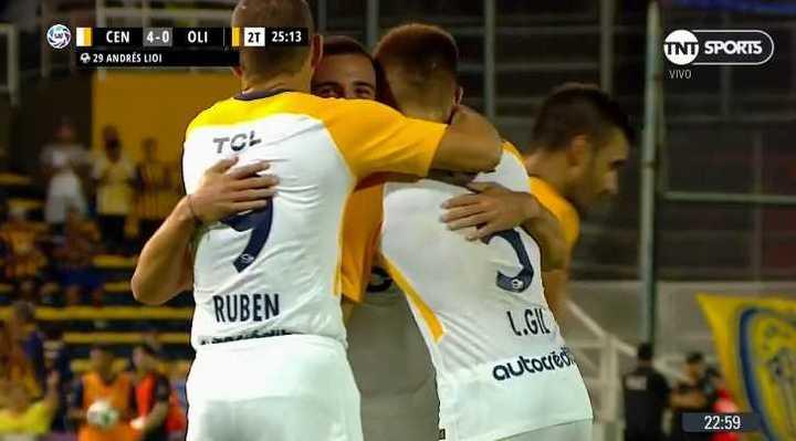 Rosario Central 4 - Olimpo 0.