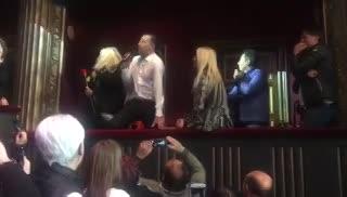 Martín Bossi recibió a Susana Giménez en el teatro